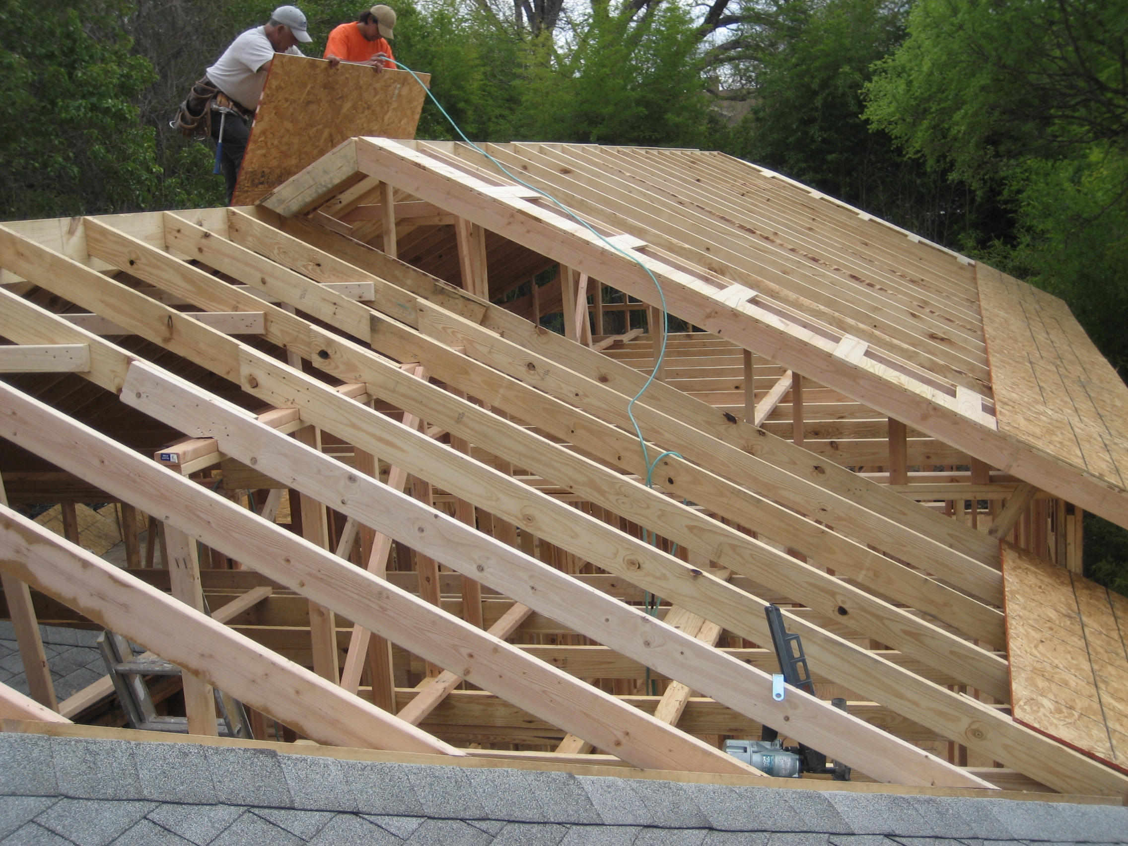 Room additions for Roof addition