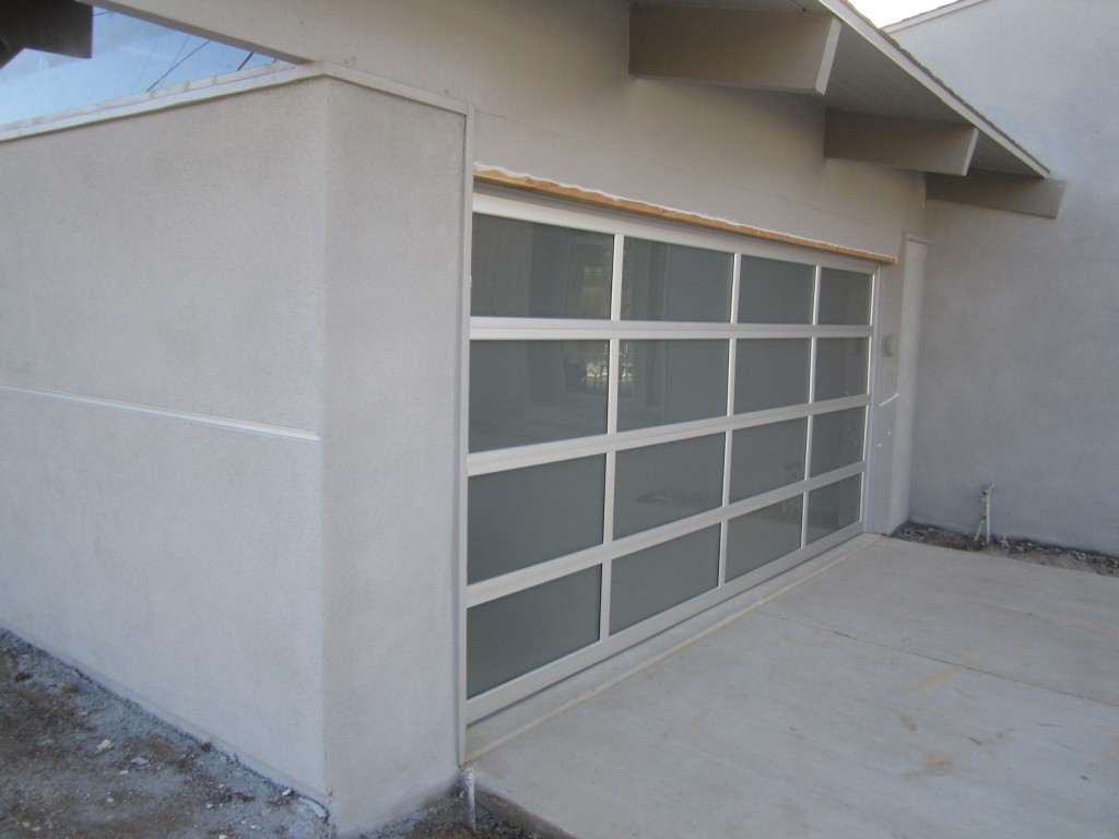 768 #576474 Full View Frosted Glass And Aluminum Modern Garage Door image Full View Aluminum Garage Doors 37231024