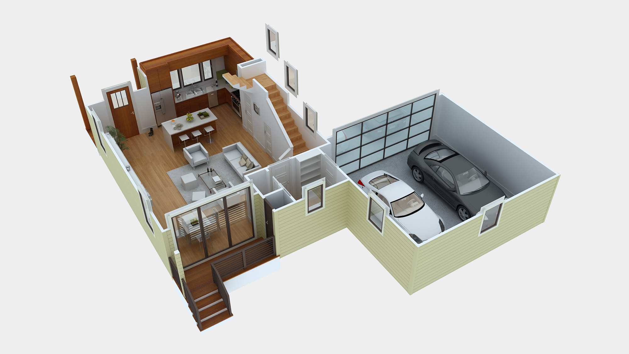 Green button homes part 3 Floor plan 3d download
