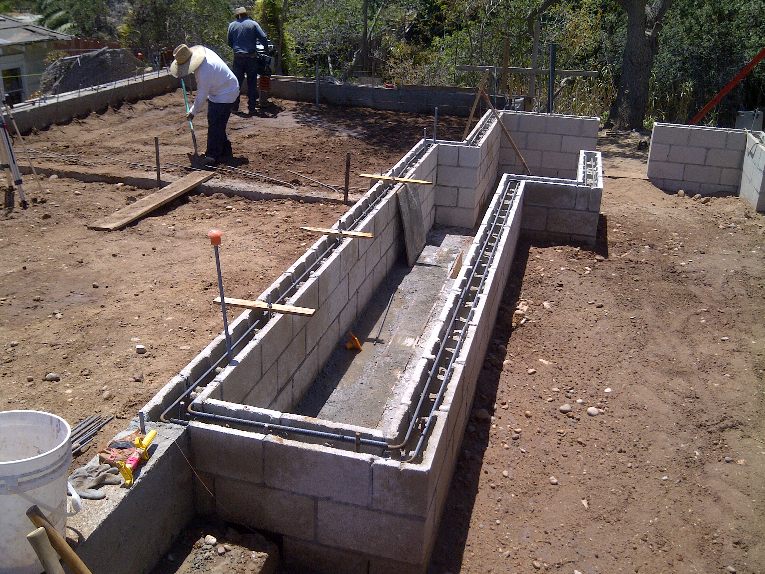 More concrete and inspections for How to build a concrete block wall foundation