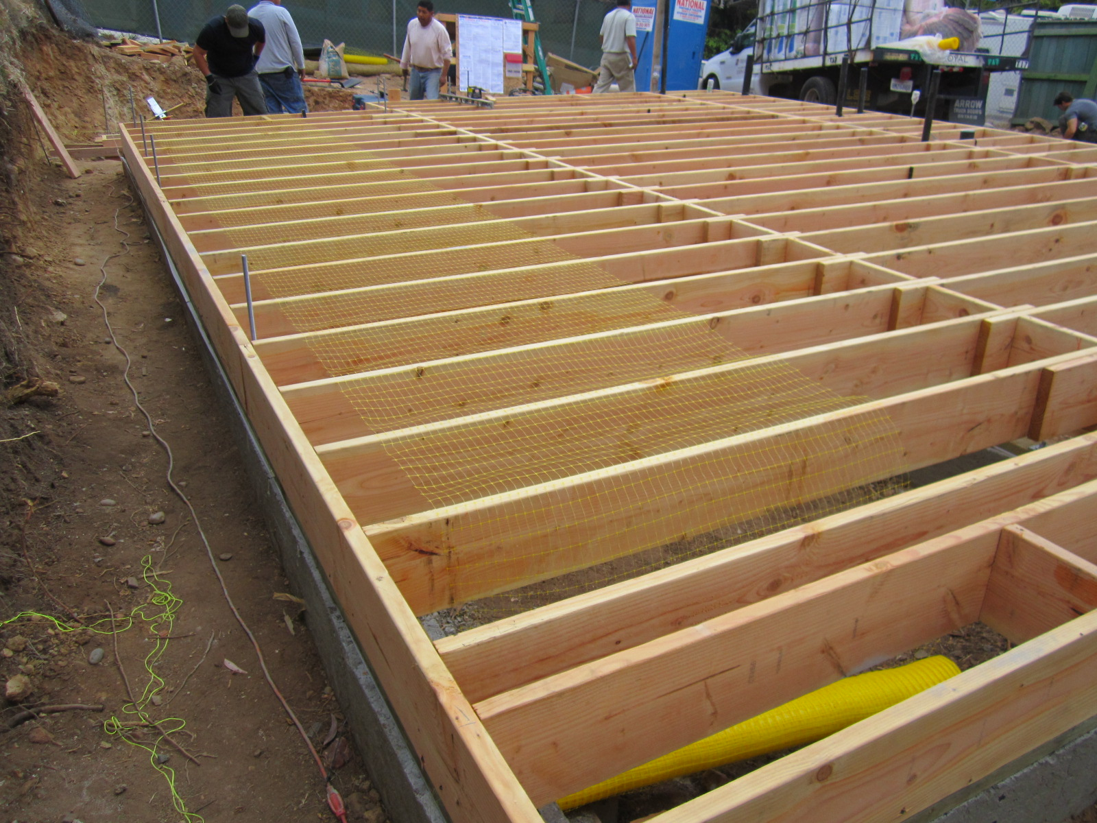 Foundations for How to build a floor for a house