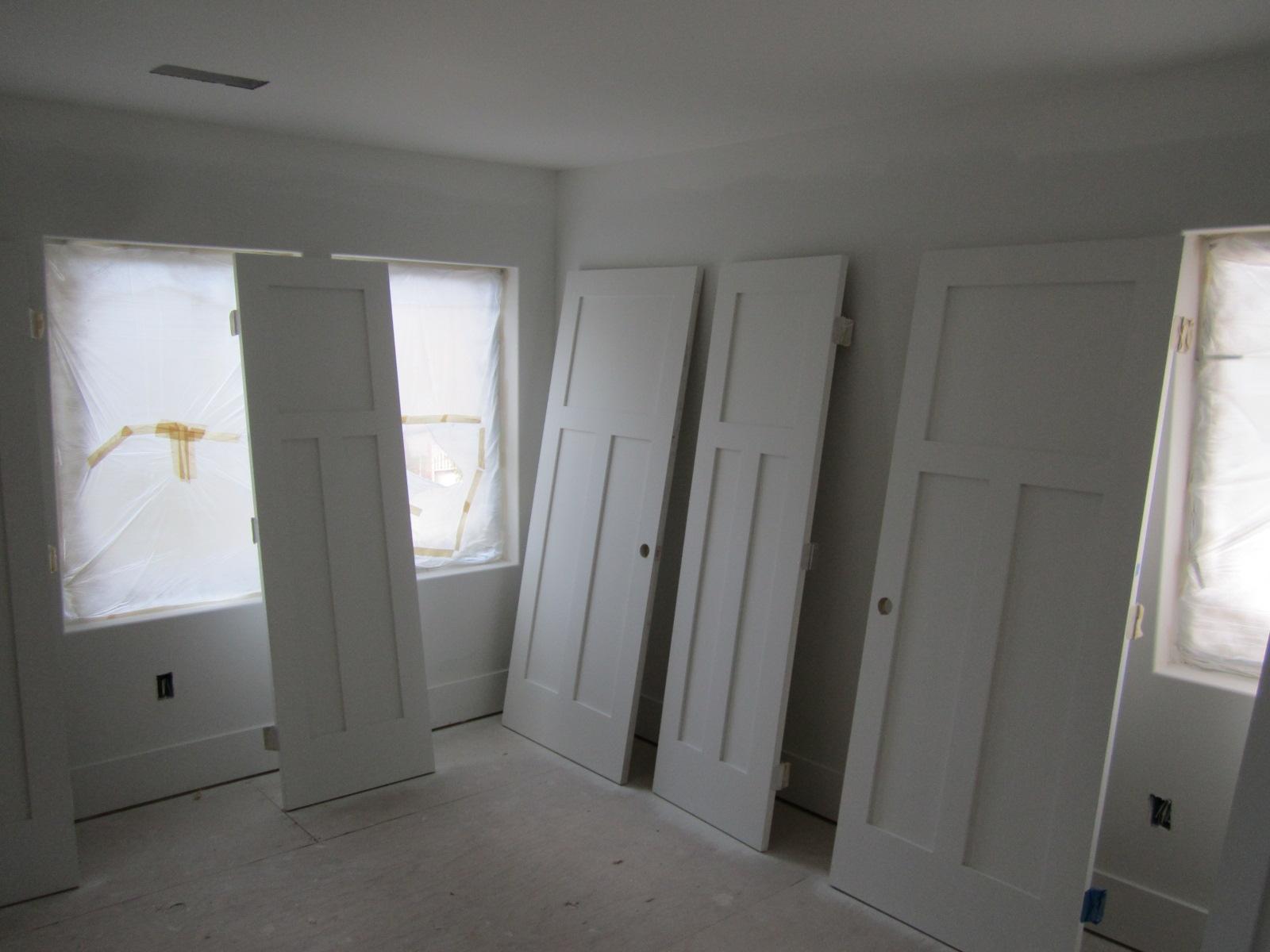 White interior doors 3 panel - Here