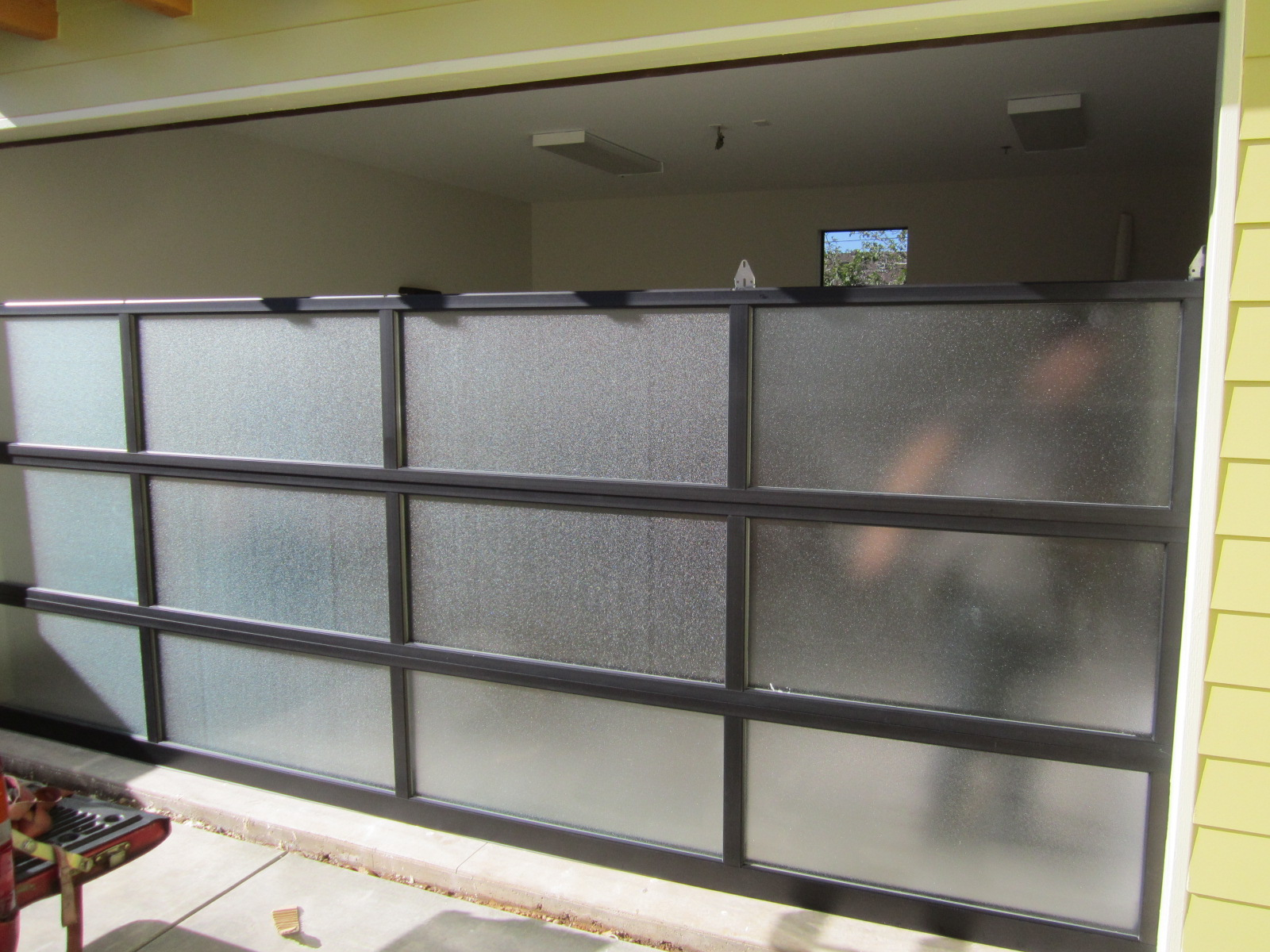 Glass garage door interior - We