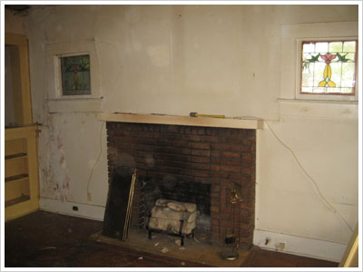 Target Fireplace Before