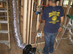 A/C Duct Blast Test