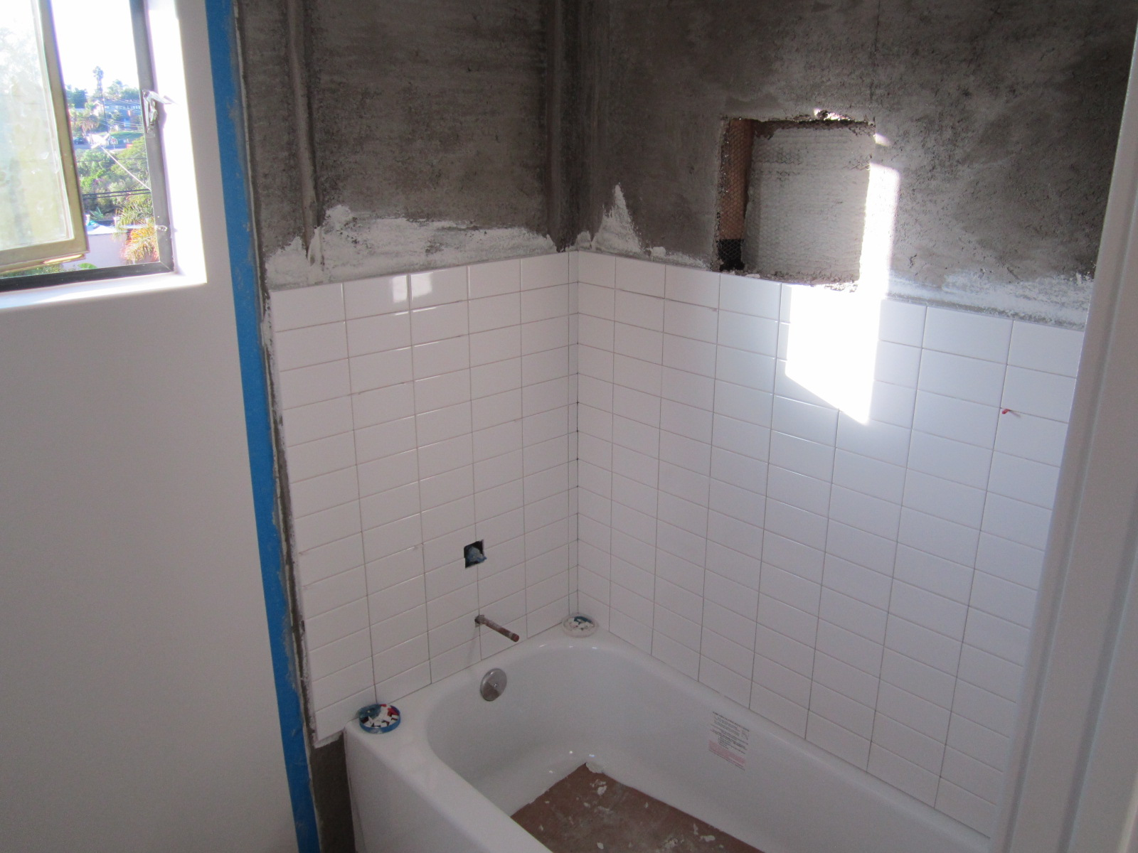 Mud Float Tile Job San Diego
