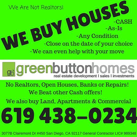 We Buy Houses San Diego
