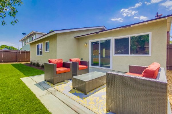 Encinitas House Flip backyard remodel